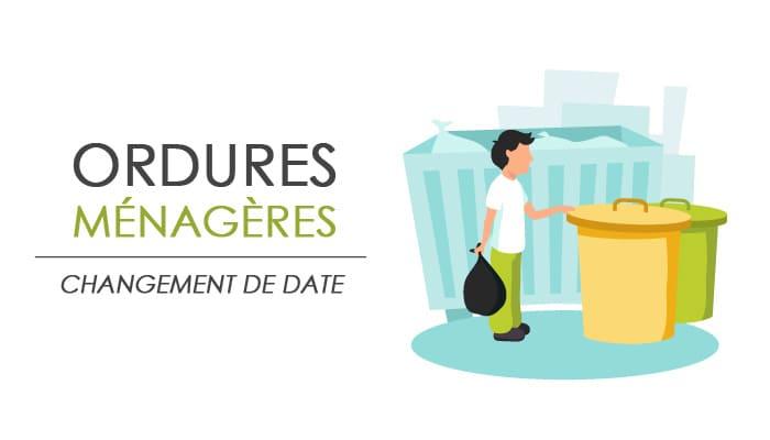 You are currently viewing Changement de date pour les ordures ménagères