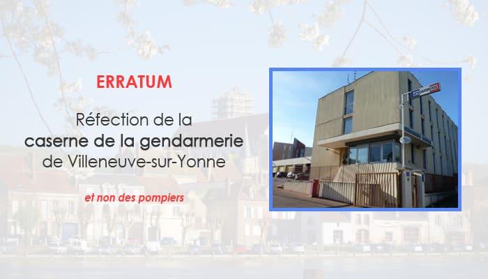 You are currently viewing Réfection de la caserne de Villeneuve-sur-Yonne
